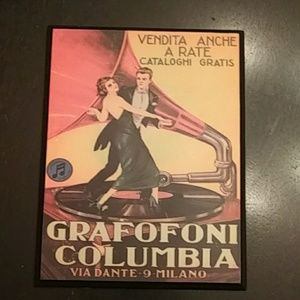 Grafofoni Columbia Vintage Decoupage Used!